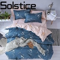 Solstice Home Fashion simple and comfortable skin-friendly printing and dyeing bed linen Quilt cover pillowcase bedding