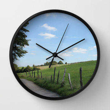 "Scenic German Countryside ""Bergisches Land"" Wall Clock by Christine Aka Stine1"