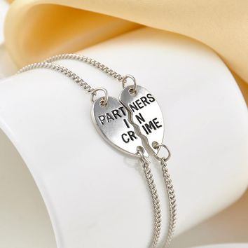 Partners In Crime Silver Bracelet 2pc Set