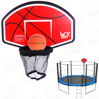6FT 8FT 10FT 12FT 14FT Trampoline Basketball Hoop Board Fits To Safety Net Pole