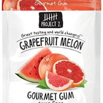 Project 7 Sugar Free Gum, Grapefruit Melon, 12 Count