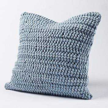 Woven Rope Pale Ocean Pillow