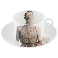 The New English Anatomica Coffee Cup and Saucer - Style # ANA-COF,