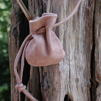 Pouch Bag Small Leather Drawstring Pouch Bag by Shirlbcreationstoo