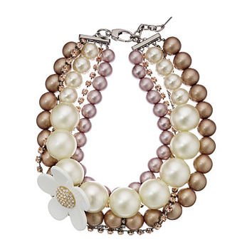 Marc Jacobs Daisy Pearl Statement Necklace