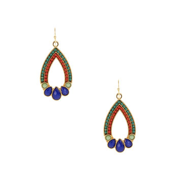 Stained Glass Teardrop Earrings