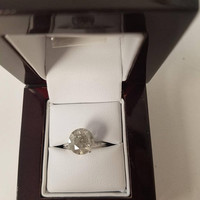 3.04 Carat H Color Diamond Engagement Ring 14K Solitaire Anniversary Bridal Appraisal Jewelry Looks Great!! Huge Size Low Price!  Hurry!