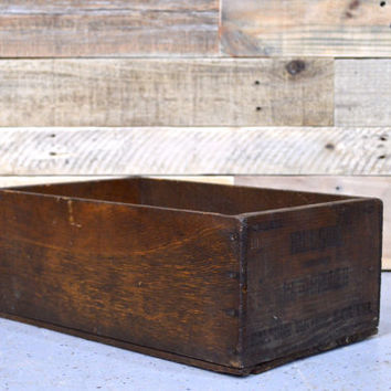 Vintage Wood Fruit Crate, HILLSIDE BRAND Santa Clara PRUNES Crate, Small Wooden Crate, Wood Box, San Francisco Crate