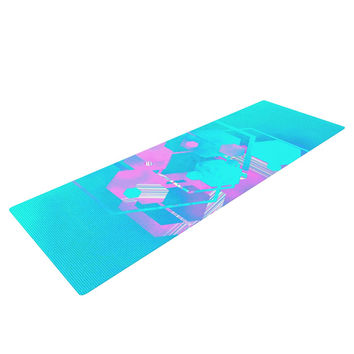 "Infinite Spray Art ""Emersion"" Teal Pink Yoga Mat"