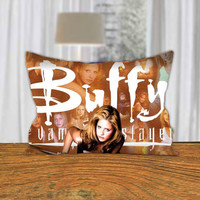 "PillowQ - Buffy The Vampire Slayer - Design for Pillow Cover 18""x18"" and 30""x20"" - Front Side Print or Full Side Print"