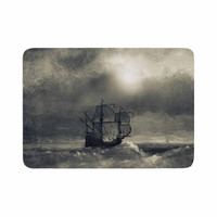 "Viviana Gonzalez ""Chapter III"" Dark Ship Memory Foam Bath Mat"