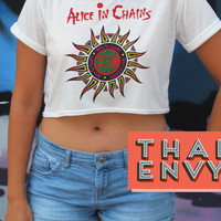Alice in Chains Crop Top - Rock Grunge Alternative Music clothes Tops