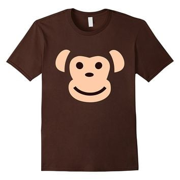 Halloween Funny Monkey Face Emoji Costume Teacher Shirt