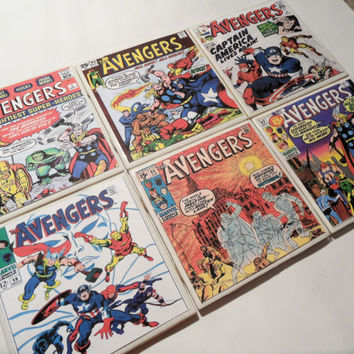 The Avengers Comic Book Cover Ceramic Coasters by myevilfriend