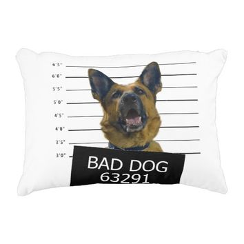 Bad dog decorative pillow