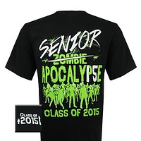 Girlie Girl Originals Class Of 2015 Senior Zombie Apocalypse Bright T Shirt