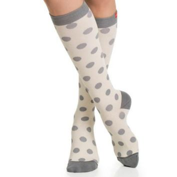 Polka Dot Compression Socks in 20-30 mmHg