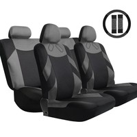 13pcs/set Car Seat Covers High Quality Breathable Polyester Sponge Seat Mat Pad +Steering Wheel Cover Accessor Car Styling