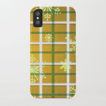 Gamboge Sycamore Snowflakes iPhone Case by deluxephotos
