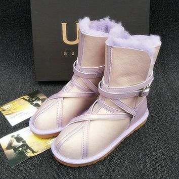 ugg fashion winter women flat warm snow ankle boots