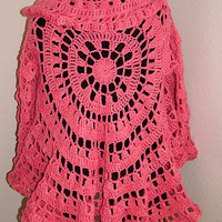 Discount 20% off - Crochet Circle Jacket /Sweater Easy Pattern