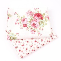 New 2 Pc/lot 40x50cm Cotton Fabric Floral Patterns Sewing Quilting Patchwork Quilts Tissue Baby Dress Bedding DIY Doll Cloth M29