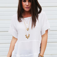 Moonlight Ride Blouse {White}