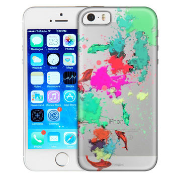 Apple iPhone 5 Abstract Paint with Fish Case