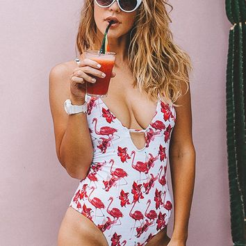 Cupshe Free To Fly Print One-piece Swimsuit