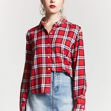 Button-Up Plaid Shirt