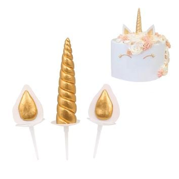Unicorn Birthday Cake Topper by PartyFuFu - Party Decorations, Baby Shower - Handmade Gold Toppers