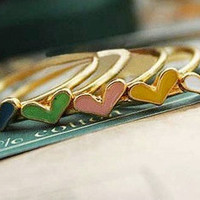 Lovely Candy Color Heart Ring