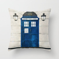 Doctor Who & Sherlock Throw Pillow by Sof Andrade | Society6