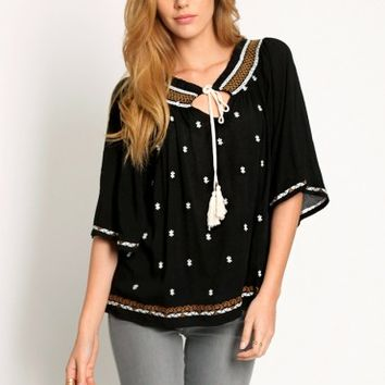 Southern Winds Embroidered Blouse