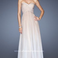 Floor Length Strapless La Femme Dress
