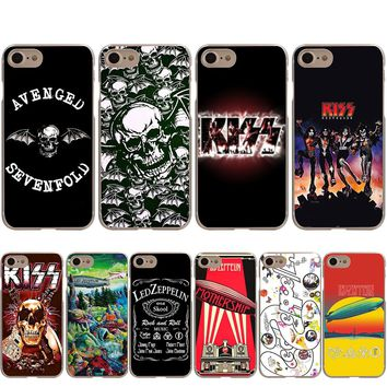 Led Zeppelin Avenged Sevenfold KISS Band Case for iPhone X 8 7 6S 6 Plus 5S SE 5