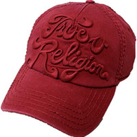 True Religion Solid Logo Baseball Cap (OX BLOOD)