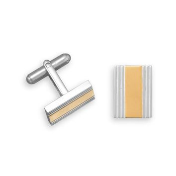 Two Tone Stainless Steel Cuff Links