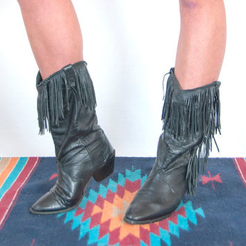 Best Vintage Fringe Boots Products on Wanelo
