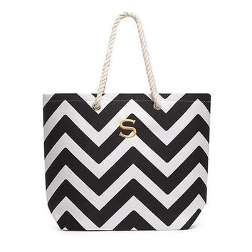 Extra Large Cabana Tote Bag - Black (Pack of 1)