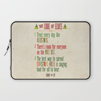 Buddy the Elf! The Code of Elves Laptop Sleeve by Noonday Design   Society6