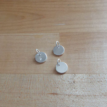 Tiny Letter Charm sterling silver