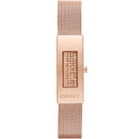 DKNY Rose Crystal-Set Dial Rose Gold-tone Mesh Ladies Watch NY2111