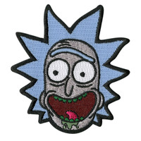 Rick And Morty Rick Face Iron-On Patch