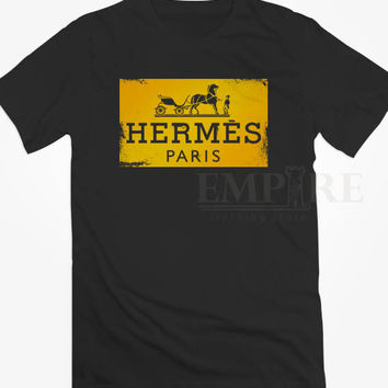 HERMES PARIS LOGO Square Unisex/Men Tshirt All Size
