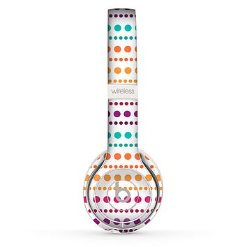 The Colorful Polka Dots on White Skin Set for the Beats by Dre Solo 2 Wireless Headphones