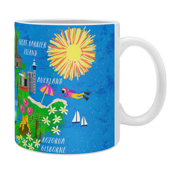 Joy Laforme New Zealand Map Coffee Mug