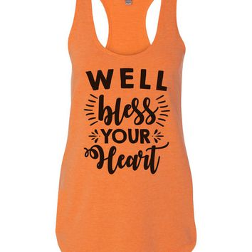 Well Bless Your Heart Womens Workout Tank Top