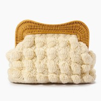 Hurricane Yarn Clutch - White