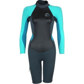O'Neill Bahia Spring Wetsuit - Long-Sleeve - Women's Graphite/Light Aqua/Sky,